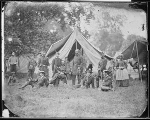 Headquarters Fifth Army Corps at Harrison's Landing