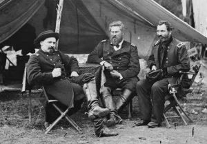 Col. Albert V. Colburn, Col. Delos B. Sacket, and Gen. John Sedgwick