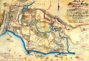 Contemporary map of Harrison's Landing