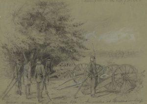 Quaker soldiers at Harrison's Landing